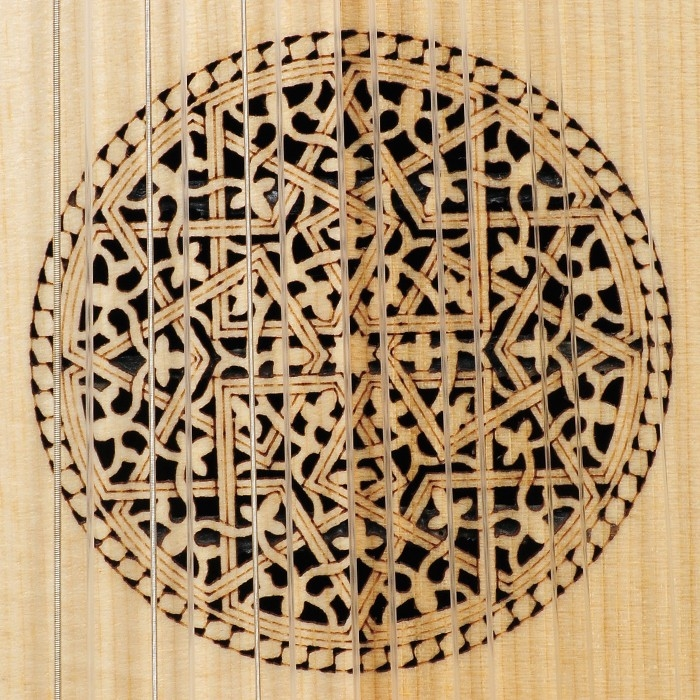 Music house princedescant lute, 7 course variegated walnut and lacewood -120