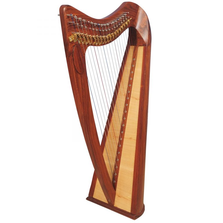 Music house prince19 strings claddagh harp rosewood-0