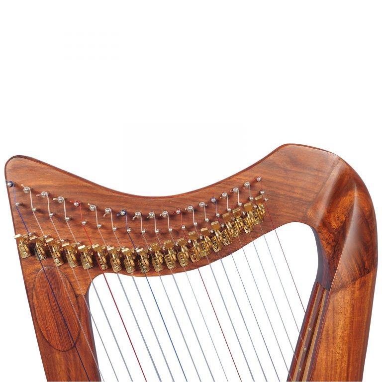 Music house prince19 strings claddagh harp rosewood-54