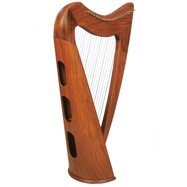 Music house prince19 strings claddagh harp rosewood-53