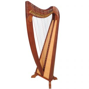 Music House Prince22 Strings Claddagh Harp Rosewood-0