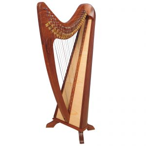 Music House Prince24 Strings Claddagh Harp Rosewood-0