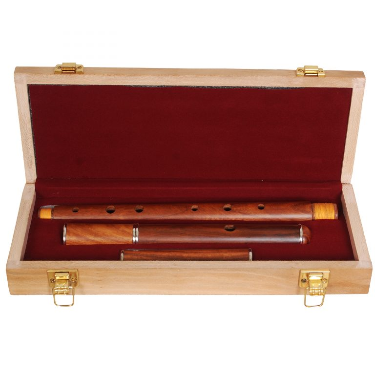 Irish flute d tune rosewood with tuning slide with wooden case-361