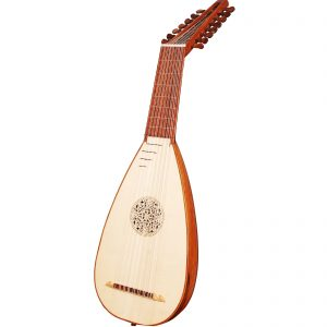 Heartland travel lute 8 course rosewood left handed -0