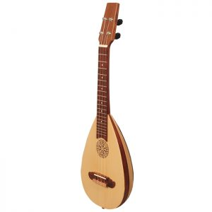 Heartland baroque ukulele 4 strings concert variegated rosewood and lacewood-0