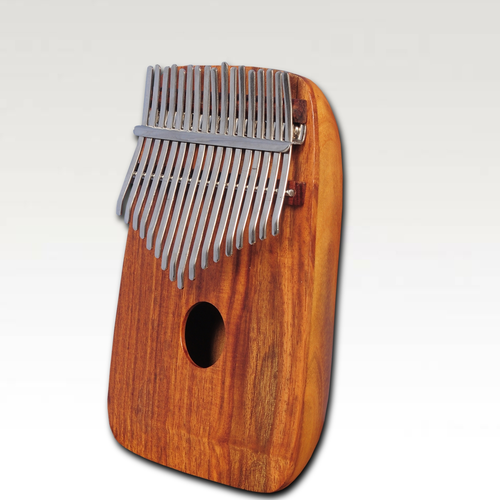 Heartland mulberry round back thumb piano, african kalimba, mbira with rosewood top -0