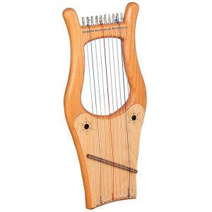 Music house princemini-kinnor harp, 10 string red ceader-0