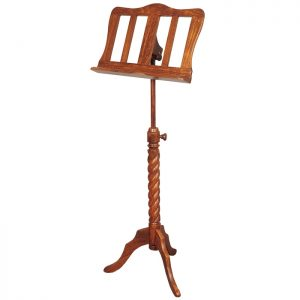 Music House Prince Single Tray Rosewood Music Stand-0