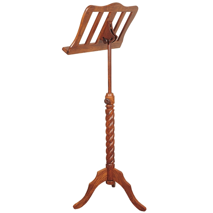 Music house prince single tray rosewood music stand-377