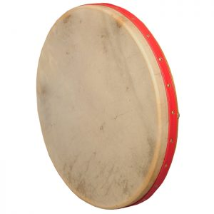 Music House Prince Frame Drum 18 inch Intune Mulberry Red Strap-0