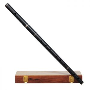 Irish flute D tune ebony wood with tuning slide with wooden case-0