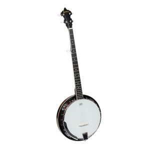 Heartland 5 string banjo 24 bracket with closed solid back and geared 5th tuner-0
