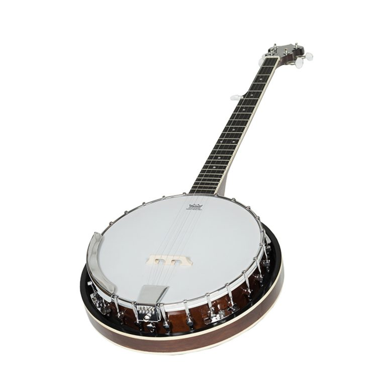 Heartland 5 string banjo 24 bracket with closed solid back and geared 5th tuner-966