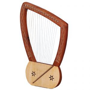 Music House PrinceLyre Harp 16 String Rosewood-0