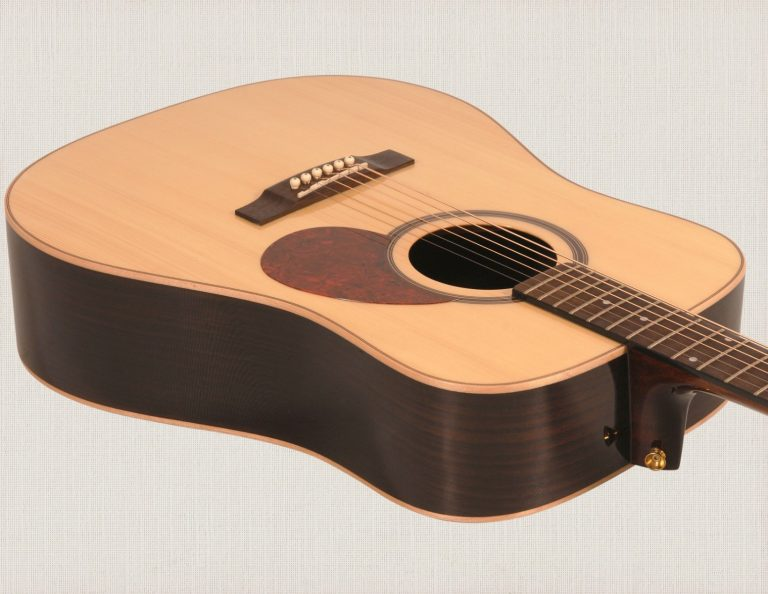 Freshman fa400d dreadnought acoustic guitar, natural with case-1122